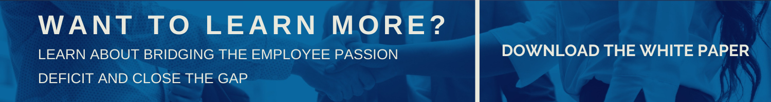 White paper banner - bridging the employee passion gap