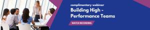 high performance teams webinar
